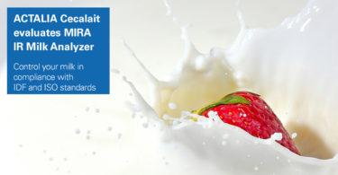 ACTALIA Cecalait evaluates MIRA IR Milk Analyzer